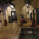the courtyard with pool
