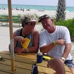 Bobbie & Jerry @ beach for dance years ago