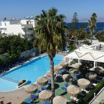 Poolside view Kos Hotel