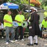 One of the many activities in the park including music and a town crier.