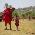 My daughter in the traditional Masai dress .. courtesy Jorge!