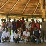 Staff and hosts of Cheetah tented camp.