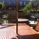 Relax outside in our professional PATIO