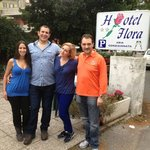 A photo of us with Paolo and Raffaella, the owners of the hotel