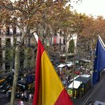 Great room and view to La Ramblas