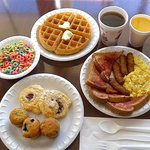 Deluxe hot breakfast buffet every morning