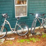 Our bikes from Suzi's Bike buddy Bobby in town rental