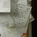 in the hall ,thank you letters for Gianluca