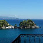View from the balcony, best location in Parga!