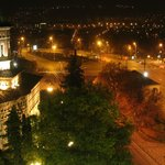 Iasi by night ! View from my room at Hotel Moldova
