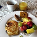 Delicious Homemade Breakfast with tea!