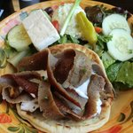 Lamb Gyro with Greek Salad