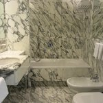 Elegant white marble bathroom (room 503)