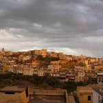 View of Noto from rooftop terrace