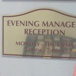 Manager Reception Hours @ Comfort Suites Airport