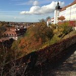 Late October view from the Domberg (cathedral hill), a 10-minute uphill walk from the hotel.