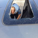 Car Broken into..quite a few people had pictures just like this...Great Security!!