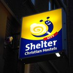Cartel del Shelter city de noche