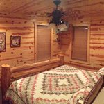 Broken Boot Lodge - king size bedroom on lower level