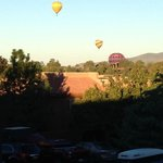 Hot Air Balloons outside our balcony