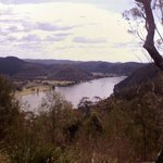 Hawkesbury River with view of Blue Mountains