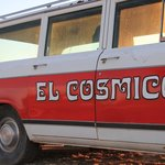 El Cosmico car out front