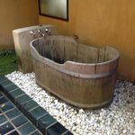 outdoor shower and bath