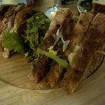 triple-decker club sandwich