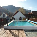 Pool - lovely to look at but sadly too chilly for October