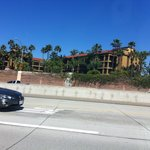 Hotel from the 5 freeway