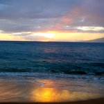 Sunset from Ka'anapali Beach right outside!