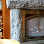 Delightful warm & welcoming fireplace in Hotel's lobby