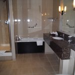 The large spacious bathroom