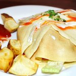 Savory Buffalo Chicken Crepe