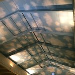 Ceiling above the pool. not really fooling anyone!