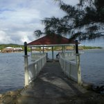 Shore diving gazebo.