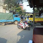 How they drive in Phnom Penh.