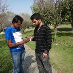 ground view  discussing with Mr Ajaz