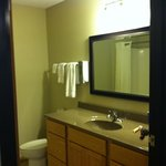 bathroom, extended stay suite