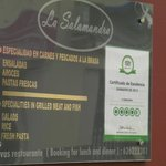 La Salamandra and the Trip Advisor rating