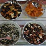 Dried fruit and nut selection
