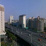 View from 9th Floor, Grand Mercure Baolong Hotel, of Yixian Highway, Shanghai.