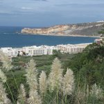 View part Nazaré from swimming pool