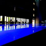 Night time pool view