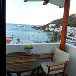 Balcony overlooking the Loutro bay