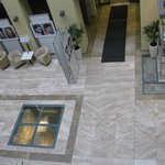 Looking into Lobby from Elevator -- view of Roman ruins in center