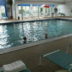 Large pool, also a kiddie pool, jacuzzi and saunas