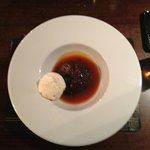 Sticky Toffee pudding and ice-cream