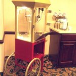 popcorn machine for guest snacks (sorry about color)