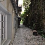 the cobblestone path